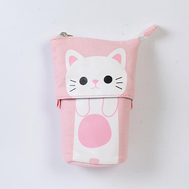 Pink Cat Pencil Case