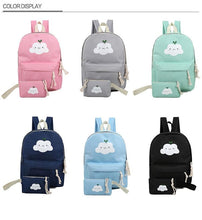 Load image into Gallery viewer, Happy Cloud Backpack with Makeup Bag