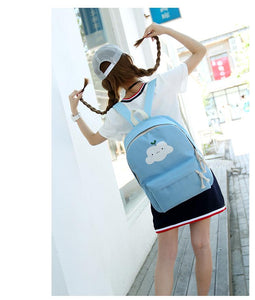 Happy Cloud Backpack with Makeup Bag