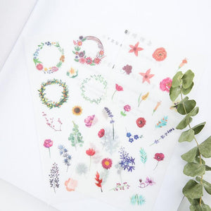 Watercolor Decorative Stickers - 6 pack
