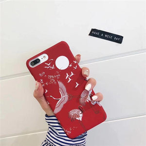 Japanese Crane Phone Case