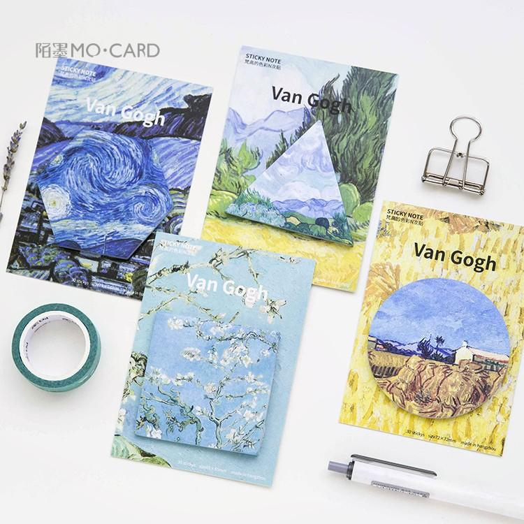 Van Gogh Sticky Notes - 4 pack