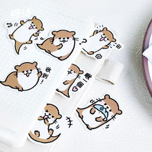 Load image into Gallery viewer, Kawaii Otter Stickers