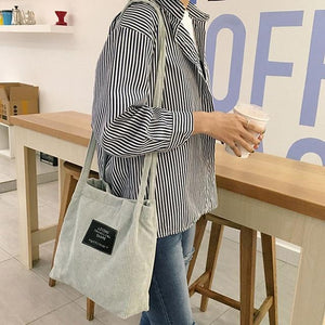 Fashion Corduroy Tote Bag