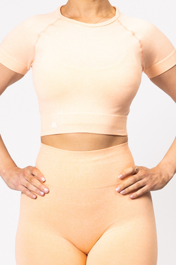 Ariana Seamless Crop Tee Orange