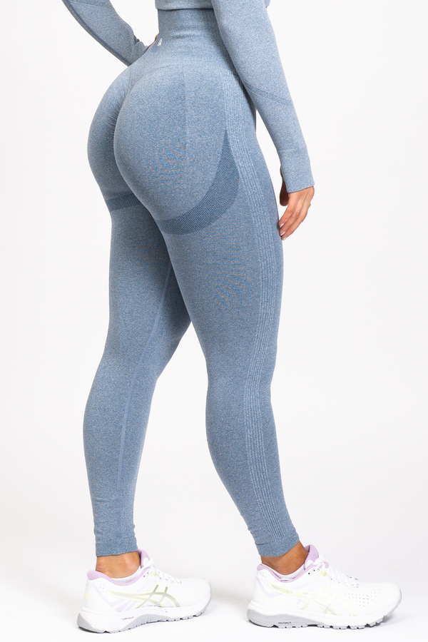 Nicki Scrunch Bum Leggings Denim Blue