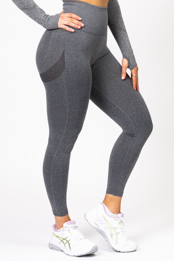 Nicki Scrunch Bum Leggings Charcoal