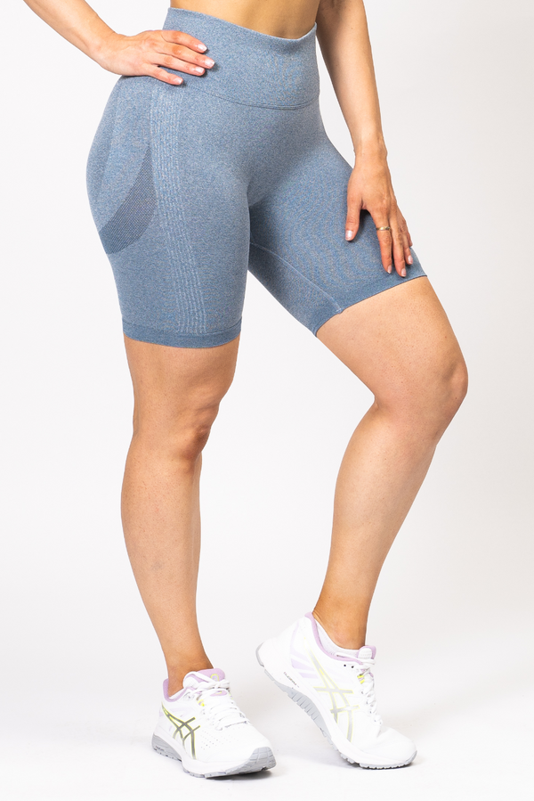 Nicki Scrunch Bum Shorts Denim Blue
