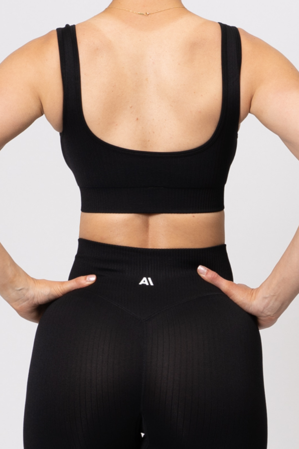Rihanna Lux Rib Sports Bra Black