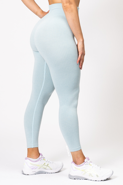 Rihanna Lux Rib Leggings Baby Blue