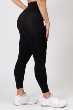 Rihanna Lux Rib Leggings Black