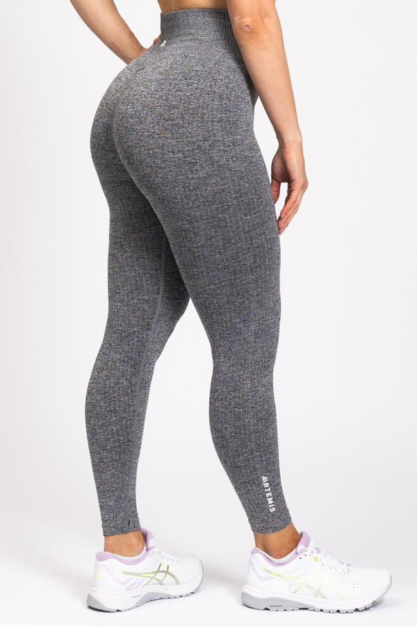 Rihanna Lux Rib Leggings Charcoal