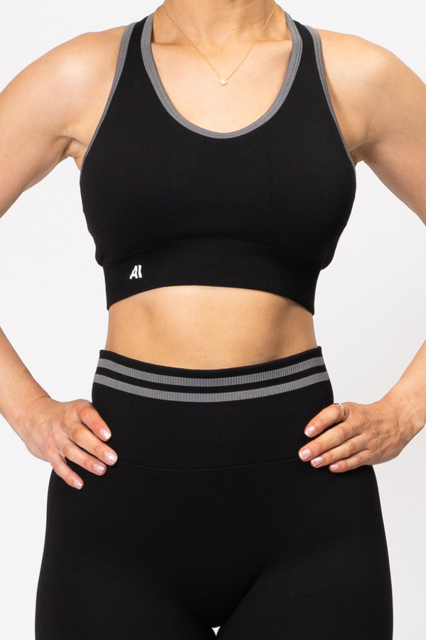 Serena Seamless Sports Bra Black