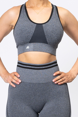 Serena Seamless Sports Bra Charcoal