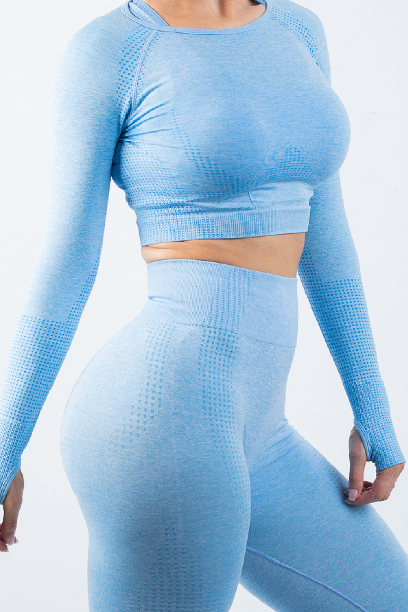Taylor Crop Top Blue - No Logo