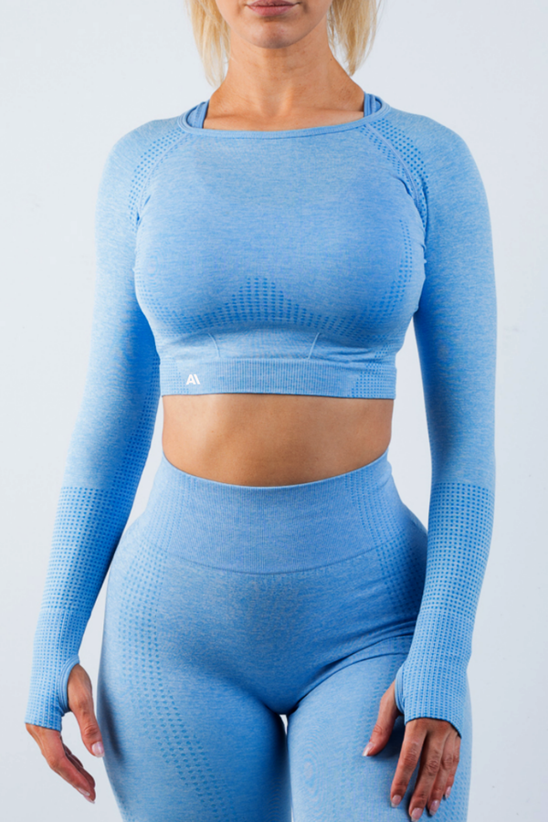 Taylor Crop Top Blue