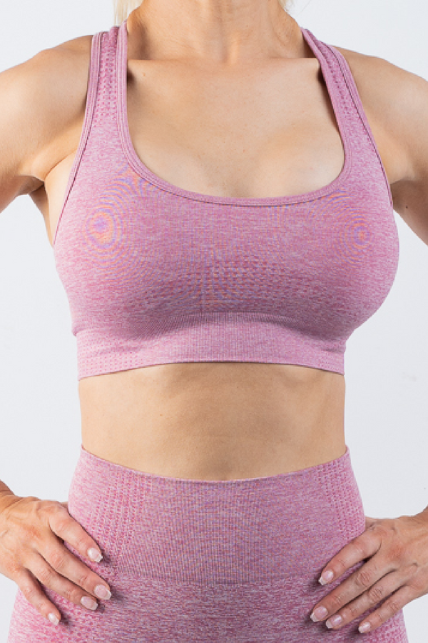 Taylor Sports Bra Pink - No Logo