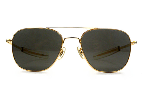 American Optical Pilot FG-58 Sunglasses - Goldtone