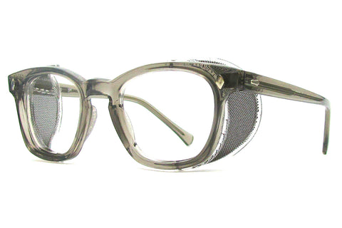 AO F9800 safety frame with wire mesh side shields (Essilor) - grey smoke