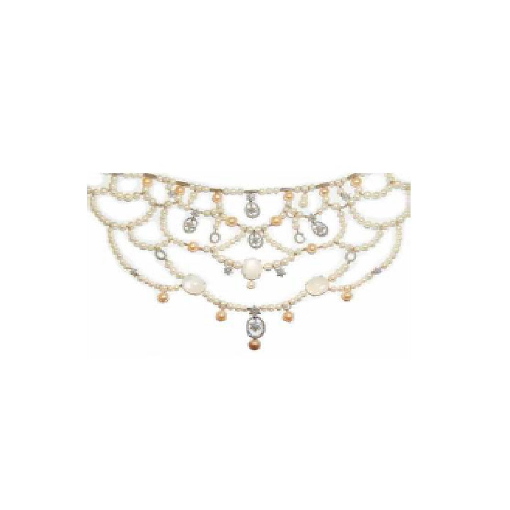 Paolo Piovan Necklace in White Gold with Diamonds, Japan Pearls and Moonstones - Made in Paradise Luxury