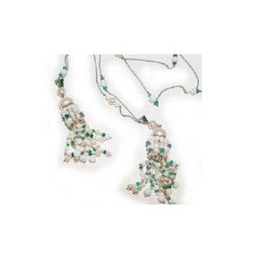 Paolo Piovan Necklace in White Gold with Pearls, Emeralds and Opals - Made in Paradise Luxury