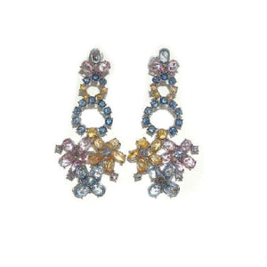 Paolo Piovan Earrings in White Gold with Diamonds and Multi-colored Sapphires - Made in Paradise Luxury