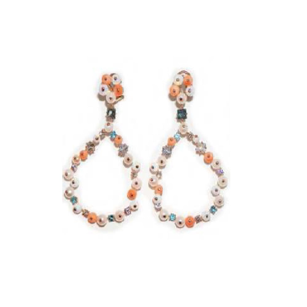 Paolo Piovan Earrings in White Gold with Diamonds, Japan Pearls and, Opals - Made in Paradise Luxury