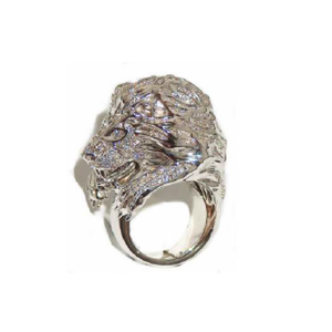 Paolo Piovan Lion White Gold Ring in Diamonds - Made in Paradise Luxury