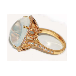 Paolo Piovan Moonstone Ring in Rose Gold with Diamonds - Made in Paradise Luxury