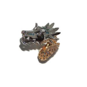 Paolo Piovan Dragon Ring in Rose Gold with Diamonds - Made in Paradise Luxury