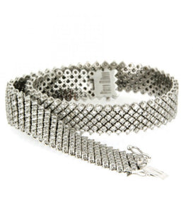 Piero Milano 18K White Gold Diamond Bracelet - Made in Paradise Luxury