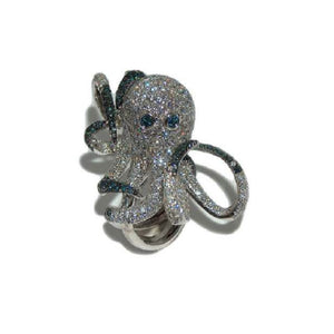 Paolo Piovan Octopus Ring in White Gold with Diamonds - Made in Paradise Luxury