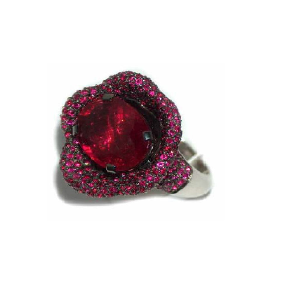 Paolo Piovan Ring in White Gold with Rubies and Tourmaline - Made in Paradise Luxury