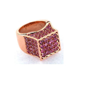 Paolo Piovan Ring in Rose Gold with Pink Sapphires - Made in Paradise Luxury