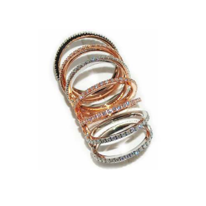 Paolo Piovan White and Rose Gold 7 Rings with Diamonds - Made in Paradise Luxury