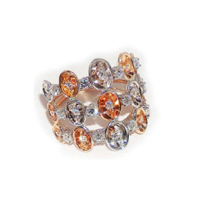 Paolo Piovan Ring in Rose and White Gold with Diamonds - Made in Paradise Luxury