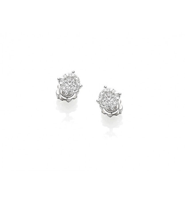 Piero Milano 18K White Gold Solitaire Earrings - Made in Paradise Luxury