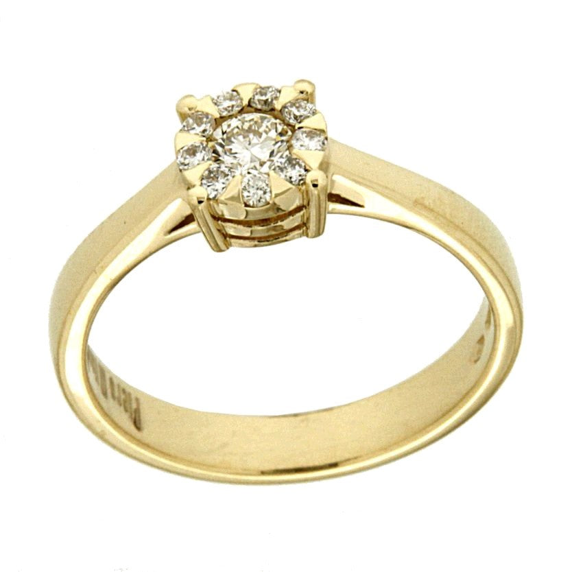 Piero Milano 18K Yellow Gold Solitaire Ring - Made in Paradise Luxury