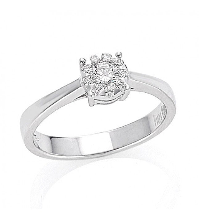 Piero Milano 18K White Gold Solitaire Ring - Made in Paradise Luxury