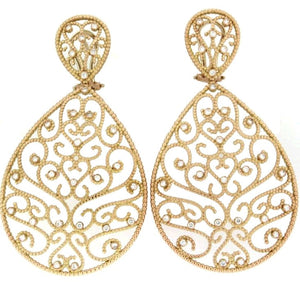 Piero Milano 18K Rose Gold Diamonds Earrings - Made in Paradise Luxury