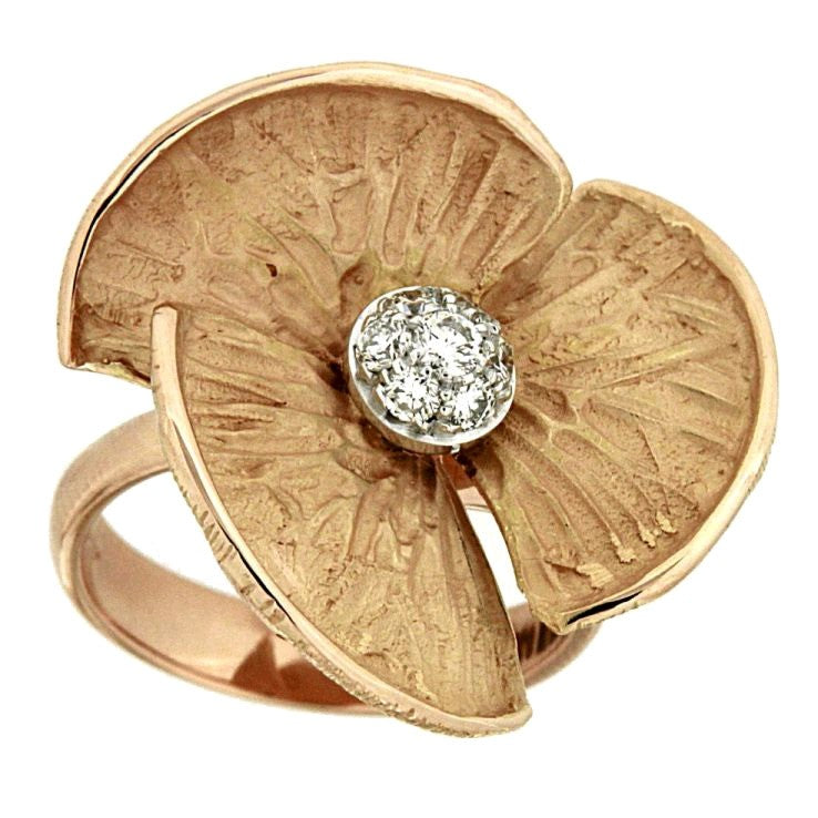 Piero Milano 18K Rose Gold Flower Ring - Made in Paradise Luxury