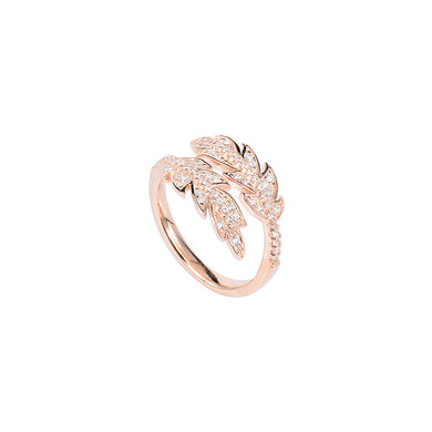 Jewel Trend Rose Gold Plated with Cubic Zirconia Fashion Amora Ring - Made in Paradise Luxury