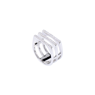 Jewel Trend Silver with Cubic Zirconia Fashion Mya Ring - Made in Paradise Luxury