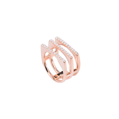 Jewel Trend Rose Gold Plated with Cubic Zirconia Fashion Mya Ring - Made in Paradise Luxury