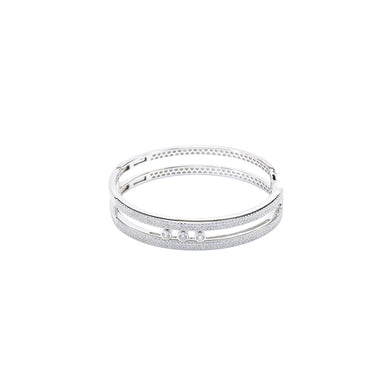 Jewel Trend Silver with Cubic Zirconia Fashion Chloe Bangle - Made in Paradise Luxury
