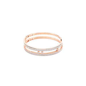 Jewel Trend Rose Gold Plated with Cubic Zirconia Fashion Chloe Bangle - Made in Paradise Luxury