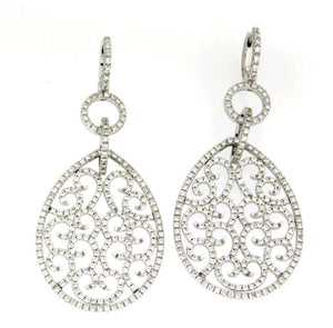 Piero Milano 18K White Gold Diamonds Earrings - Made in Paradise Luxury