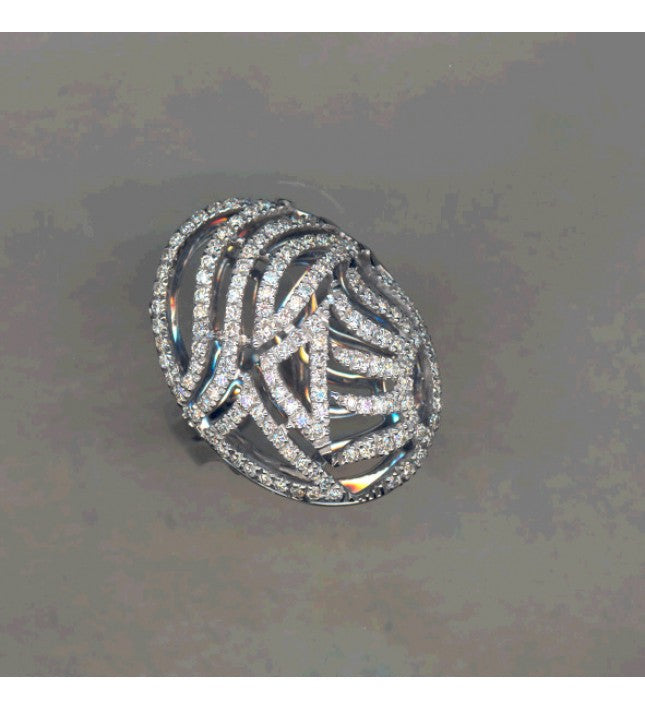 Piero Milano 18K White Gold Diamonds Ring - Made in Paradise Luxury