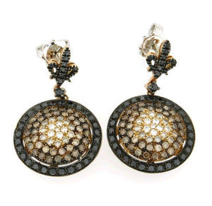 Piero Milano 18K Rose Gold Rhodium Black Diamonds Earrings - Made in Paradise Luxury
