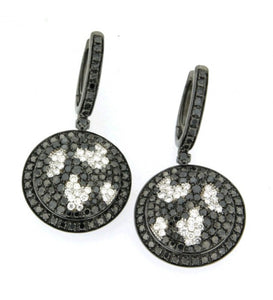 Piero Milano 18K Black and White Diamond Butterfly Motif Earrings - Made in Paradise Luxury